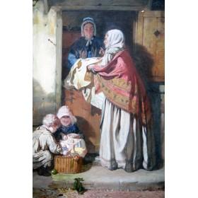 Антикварная живопись John Ritchie Тяжелая торговля