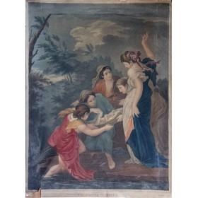 нахождение Моисея старинная гравюра