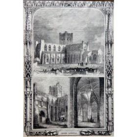 Честерский собор, изображенный на английской гравюре 19 века