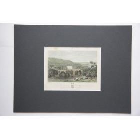 Вид на Titsey place в английской гравюре 19 века