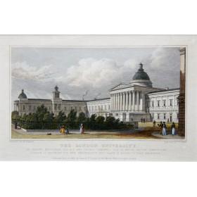 Лондонский университет в антикварной английской гравюре 19 века
