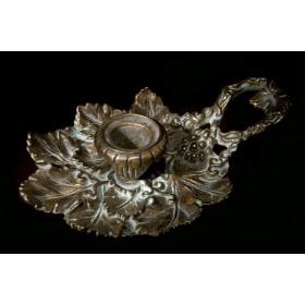 Старинный свечник ОСЕНЬ, Антикварная бронза