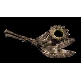 Купить антикварный свечник Трилистник, Масонский антиквариат