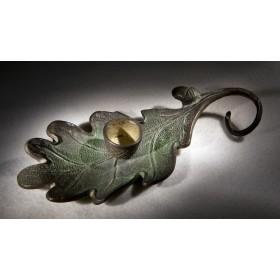 Антикварный свечник Дубовый листок