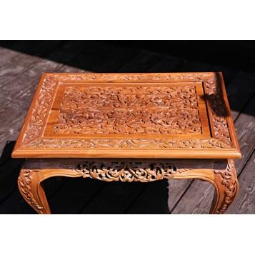 Старинный резной столик-подставка, Бирма, колониальный стиль