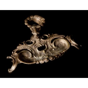 Антикварный бронзовый подсвечник в стиле РОКОКО