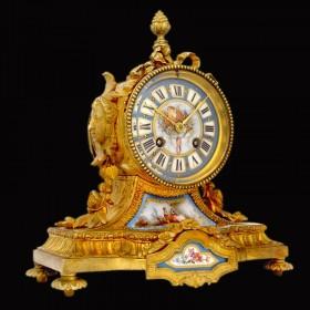Старинные будуарные часы эпохи Ренессанса Севр купить в подарок