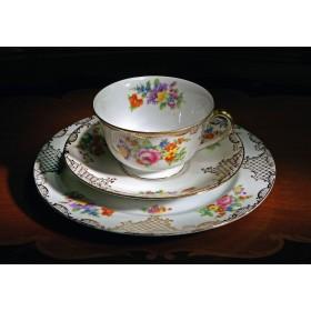 Старинная чайная тройка Noritake в подарок, антикварная посуда