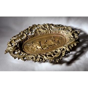 Старинная ваза из бронзы Посейдон