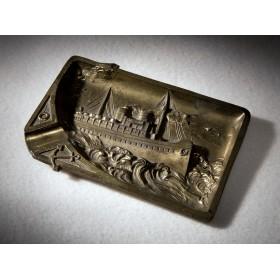 Антикварная пепельница из бронзы Штойбен
