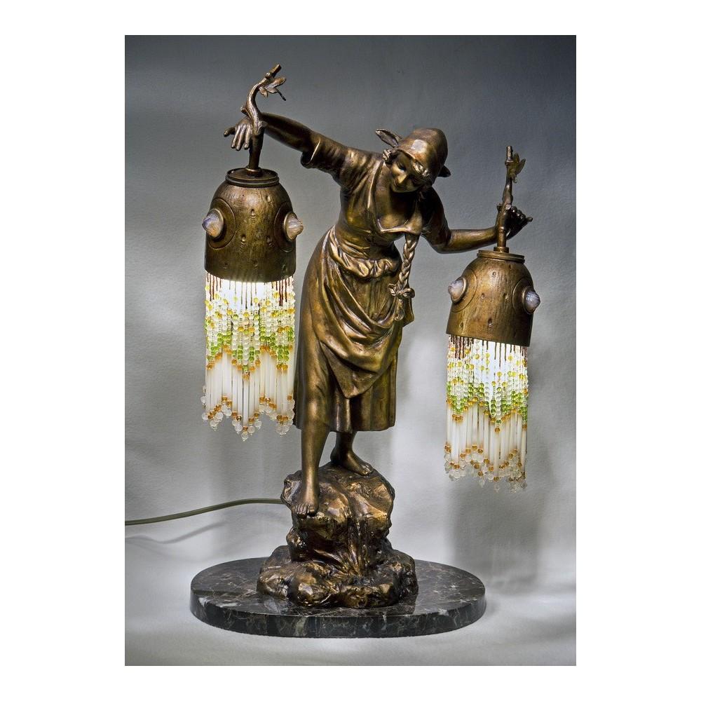 бронзовые статуэтки антиквариат фото девушки длинными чёрными