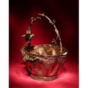 Антикварная десертная вазочка Лоза.