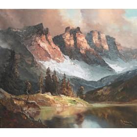 Антикварная картина See in den Alpen