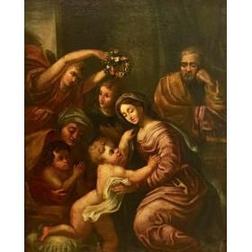 Антикварная картина Итальянской школы 17 века