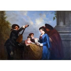 Антикварная картина 1859 года