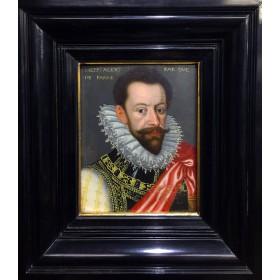 "Антикварная картина 16 века ""портрет Александра Фарнезе"" фламандская школа"