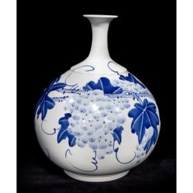 Антикварный китайский фарфор Старинная ваза фарфор Виноград