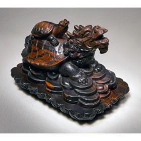 Тибетская шкатулка Черепаха с головой дракона в подарок