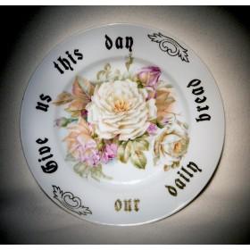 Старинная тарелка Чайные розы