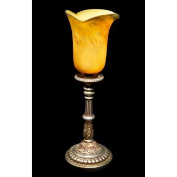 Старинная бронзовая лампа Тюльпан Muller Freres в интерьер и в подарок