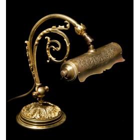 Старинная лампа из бронзы стиль Модерн