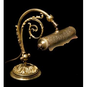 Старинная лампа из бронзы стиль Модерн в подарок и в интерьер