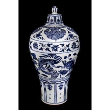 Купить китайский фарфор, старинная ваза Kangxi в интерьер