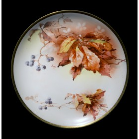 Антикварная тарелка Девичий виноград
