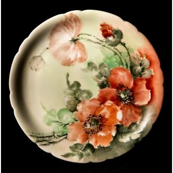 Антикварная тарелка Маки Limoges - купить фарфор в подарок