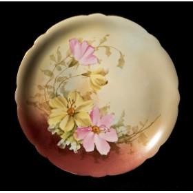 Старинная фарфоровая тарелка Космея JP Limoges