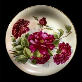 Старинная фарфоровая тарелка Розы