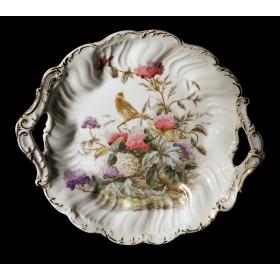 Старинная тарелка гортензия C. Tielsch