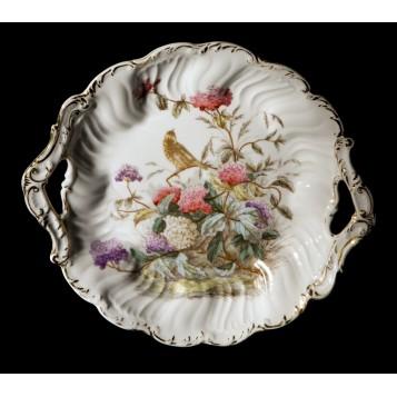 Старинная тарелка гортензия C. Tielsch фарфор в подарок