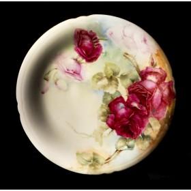 Антикварная тарелка Розы мама Ehram.