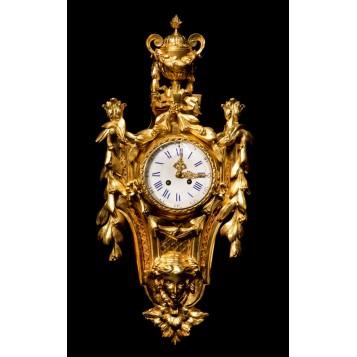 Старинные часы, антикварный французский картель «Триумф», купить антиквариат