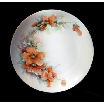 Антикварная тарелка, Силезия, купить старинный фарфор в подарок