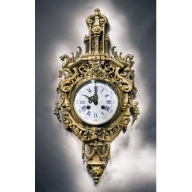 Антикварные настенные  часы, старинный французский картель NAPOLEON III