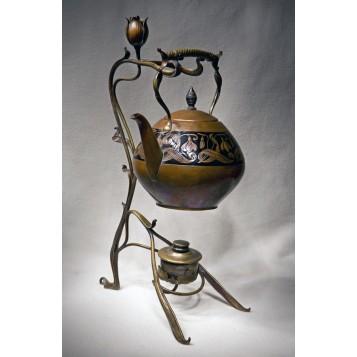 Старинный чайный набор Fleurs, купить антиквариат модерн в подарок