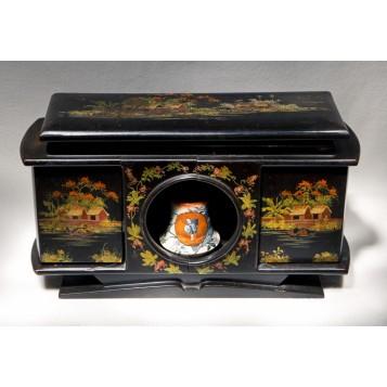 Антикварный  хьюмидор для сигарет в подарок, старинные вещи в интерьер