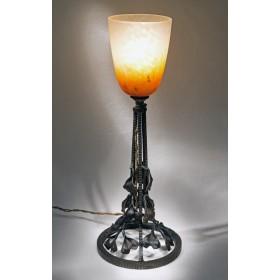 Стекло модерн, антикварная лампа