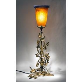 Антикварная лампа Clematis стекло Арт нуво