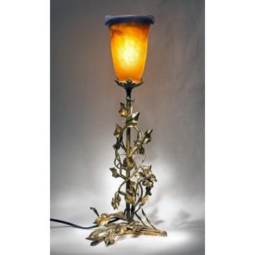 Антикварная лампа Clematis стекло Арт нуво, купить модерн в Москве