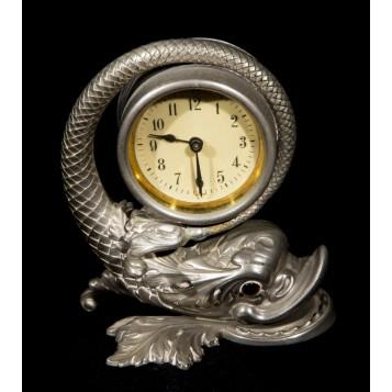 Старинные антикварные часы Дельфин в подарок и в интерьер