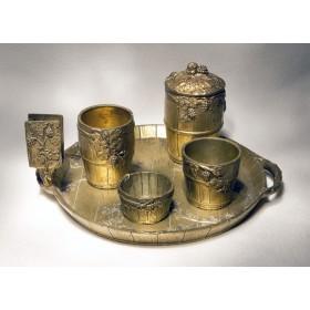 Набор для курения из старинной бронзы Бургундия