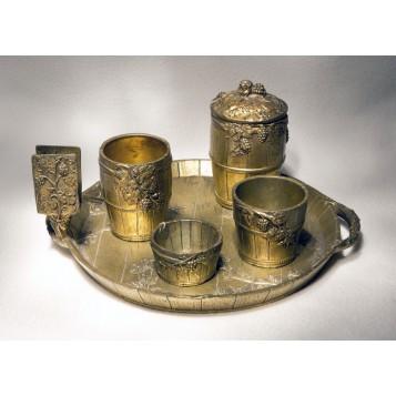 Купить в подарок набор для курения из старнной бронзы Бургундия