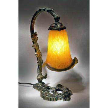 Старинное стекло Арт нуво в москве, Антикварная лампа Majorelle