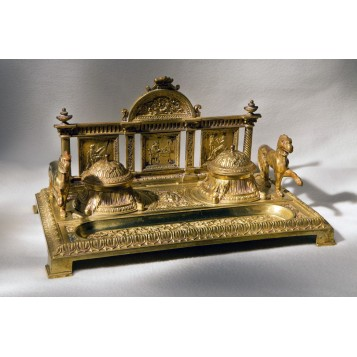 Купить старину в подарок, антикварный чернильный прибор Храм Аполлона