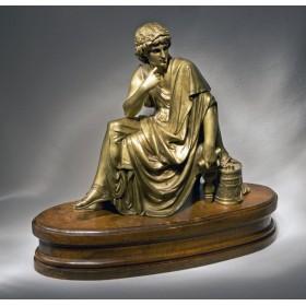 Старинные вещи из бронзы антикварная скульптура Вергилий L. Pilet