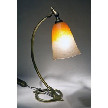 Купить старинное стекло модерн, лампа Осень