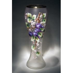 Антикварная ваза из старинного муранского стекла Сливы в подарок